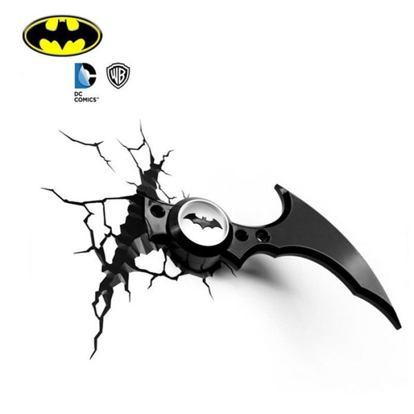 Batman Batarang 3D Deco Light Boomerang- Wall Night LED Lamp for Kids