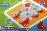 Sesame Street Bath Pack - Bath MAT + Shampoo RINSER + Tub Threads Elmo
