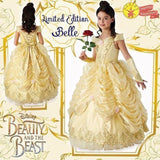 Belle LIMITED EDITION Beauty & The Beast Costume Medium Size 5-6 Disney Dress Up for Kids / Girls