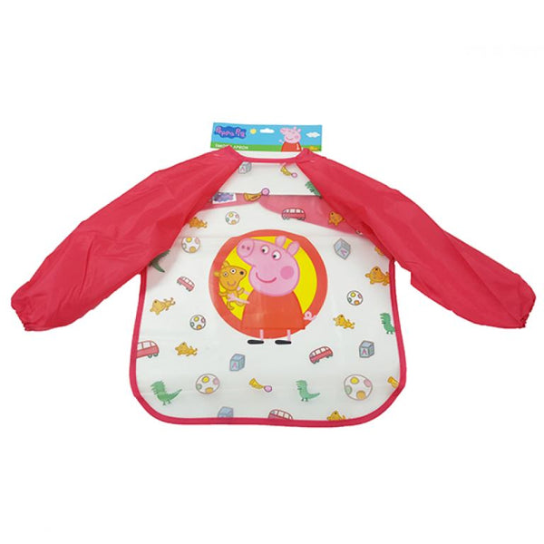 Peppa Pig Smock Bib for Baby - Long Sleeves Waterproof Bib