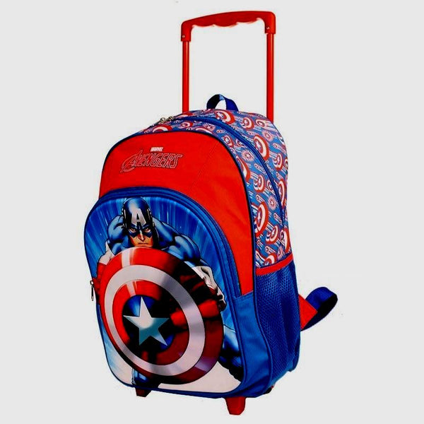Captain America Trolley Wheelie Suitcase Luggage Travel School Bag for Kids Marvel Avengers