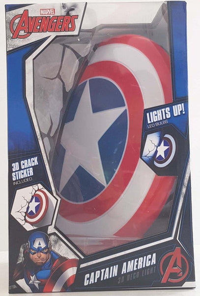 Captain America Shield 3D Deco Light- Wall Night LED Lamp for Kids Marvel Avengers