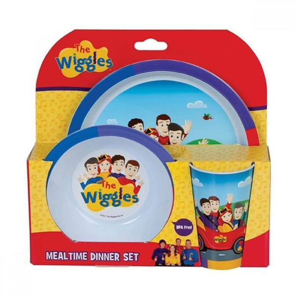 The Wiggles Emma 3 Pcs Dinner Set Meal Time Plate Bowl Cup