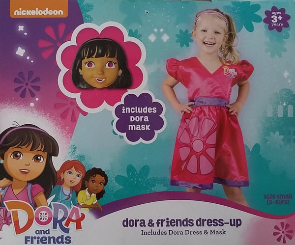 Dora Dress Up Dora The Explorer Costume Includes Mask Small 3-5 years for Kids