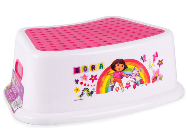 Dora The Explorer Step Stool with Non Slip Surfaces and Easy Grip Handles