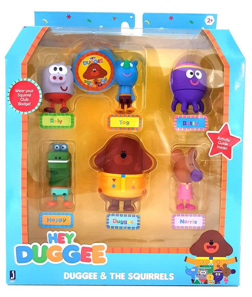 Hey Duggee Squirrel Figurine Set with Duggee 6 Pcs - Great for Cake Topper