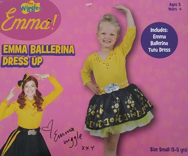 The Wiggles Emma Ballerina Dress Up Costume Small 3-5 years for Kids