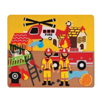 Fire Engine Story Board Felt Creations - Felt Board Fireman Station Helicopter