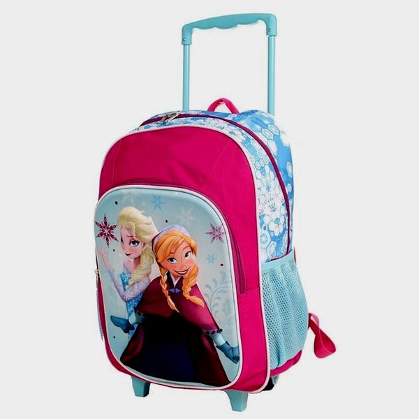 Disney Frozen Trolley Wheelie Suitcase Luggage Travel School Bag for Kids Elsa & Anna