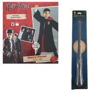 Harry Potter Costume AND Wand Dress Up - Gryffindor Deluxe Robe for Kids