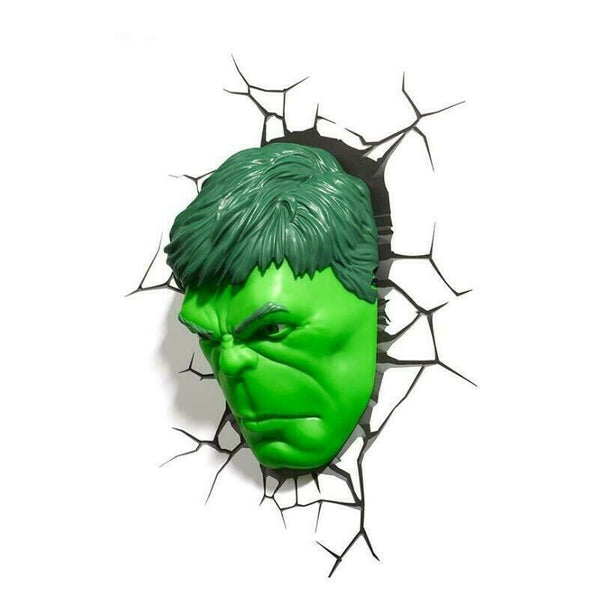Hulk Face 3D Deco Light Hulk Head Wall Night LED Lamp for Kids Avengers
