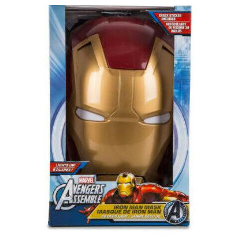 Marvel Avengers Iron Man Mask 3D Deco Light Ironman Wall Night LED Lamp for Kids