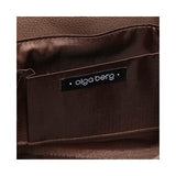 Olga Berg Women's Designer Hand / Shoulder Bag Satchel Tote Mocha OB1188