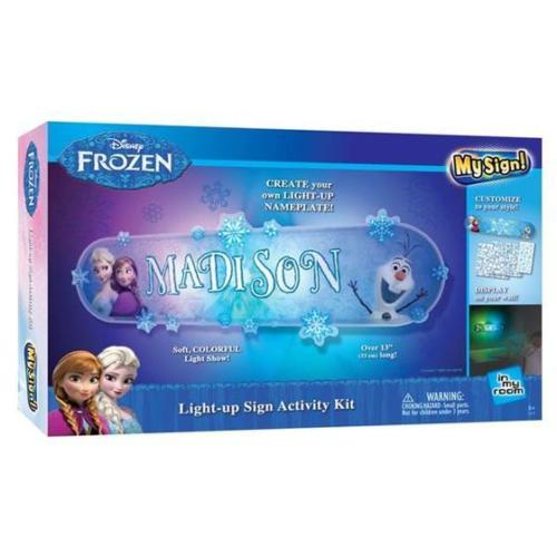 Disney Frozen My Sign Light Up Sign Activity Kit Wall Nameplate Night Lamp
