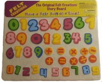 Learn to Count 123 Numbers Story Board Felt Creations Add Substract - Felt Board