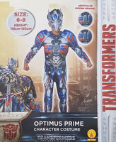 Transformers Optimus Prime Dress Up Costume Suit with Mask Small 6-8 years