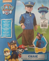 Paw Patrol Chase Costume Toddler 1-2 Years Dress Up for Kids / Children