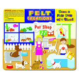 Pet Shop Story Board Felt Creations - Felt Board with Dogs and Cats