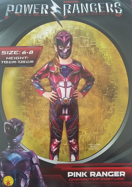 Power Rangers Pink Ranger Costume 6-8 Years Dress Up for Kids / Children