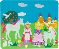 Princess Castle Story Board Felt Creations - Felt Board with Unicorn Horse