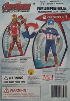 Reversible Iron Man to Captain America Costume Size 4-6 years Dress Up Avengers
