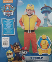 Paw Patrol Rubble Costume Toddler 1-2 Years Dress Up for Kids / Children