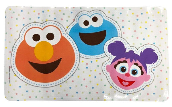 Sesame Street Bath Mat with Non Slip Suction Cups White Colour