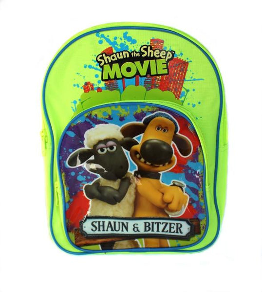 Shaun The Sheep Arch Backpack GREEN School Back Pack Bag Travel for Kids