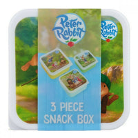 Peter Rabbit 3 Piece Snack Box for Kids Nesting Lunch Box / Lunch Container