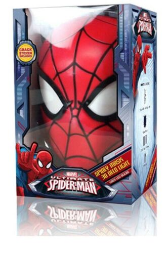 Spider-Man Mask 3D Deco Light Spidey Mask Wall Night LED Lamp for Kids Spiderman