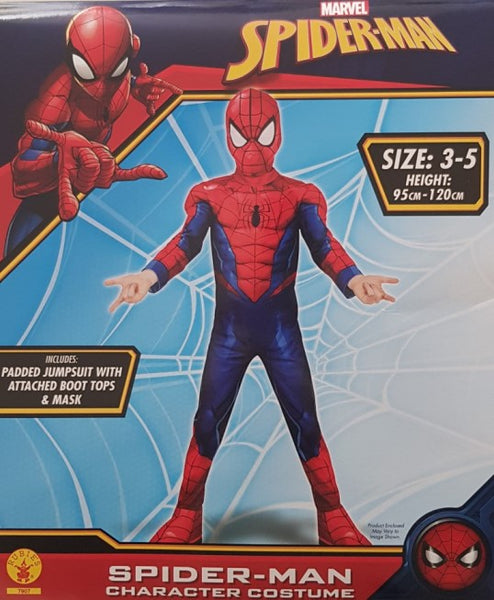 Spiderman Costume Size 3-5 Padded Dress Up for Kids Avengers