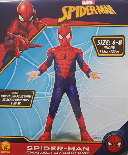 Spiderman Costume Size 6-8 Padded Dress Up for Kids Avengers