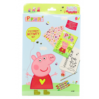 Peppa Pig Stationery Activity Set Stationery Colouring Crayons Stickers Paper