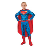 Superman Costume Deluxe Dress Up Padded Muscles Size 3-5 years for Kids