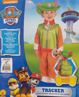 Paw Patrol Tracker Costume Small 3-4 Years Dress Up for Kids / Children