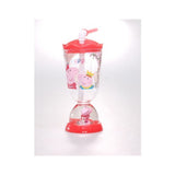 Peppa Pig Tumbler Glitter Dome Drink Cup with Straw Once Upon A Time