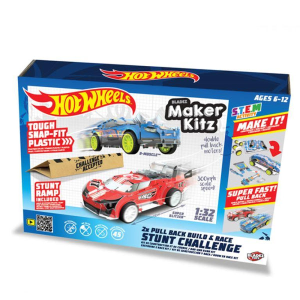 Hot Wheels Maker Kitz TWO Cars - Build Pull Back Race Car Kit