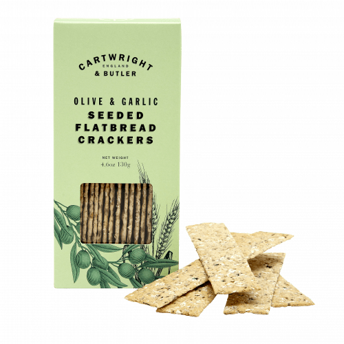 Cartwright & Butler - Olive & Garlic Seeded Flatbread Crackers - Artisan Deli Market