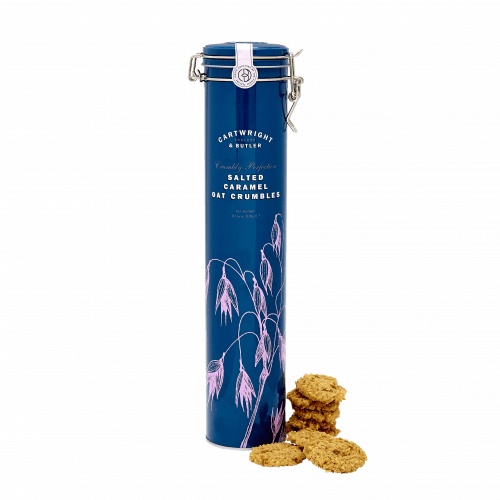 Cartwright & Butler - Salted Caramel Oat Crumbles in Tall Tin