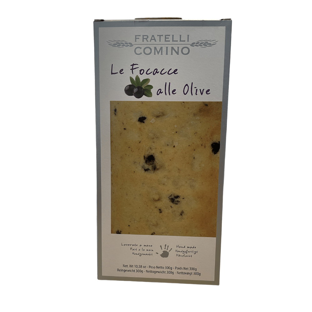 Fratelli Comino Focacce with Black Olives