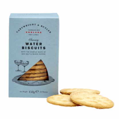 Water Biscuits With Sea Salt & Black Pepper