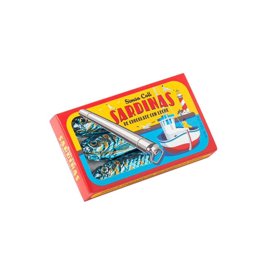 Simon Coll -  Milk Chocolate Sardines Tins 24g