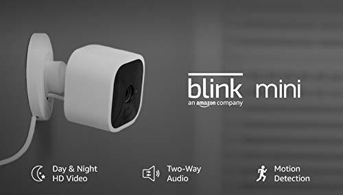 Blink Mini – Compact indoor plug-in smart security camera with Night vision 1080 HD video - Aiko 360