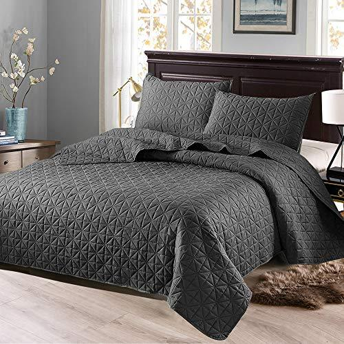 2-Piece Twin/Queen/King Size Quilt Set with Pillow Sham- Bedspread Reversible and Hypoallergenic - Aiko 360