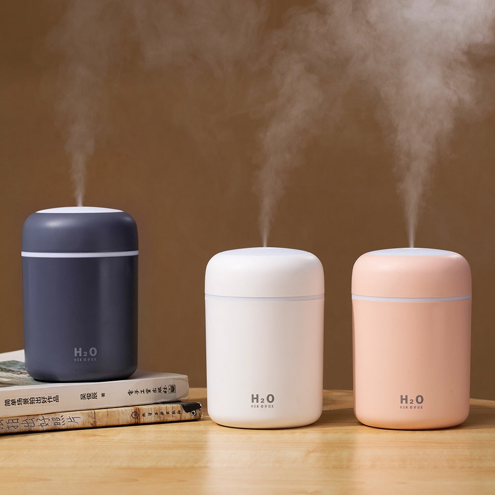 Portable USB Humidifier with Aroma Diffuser and Romantic Light - Aiko 360