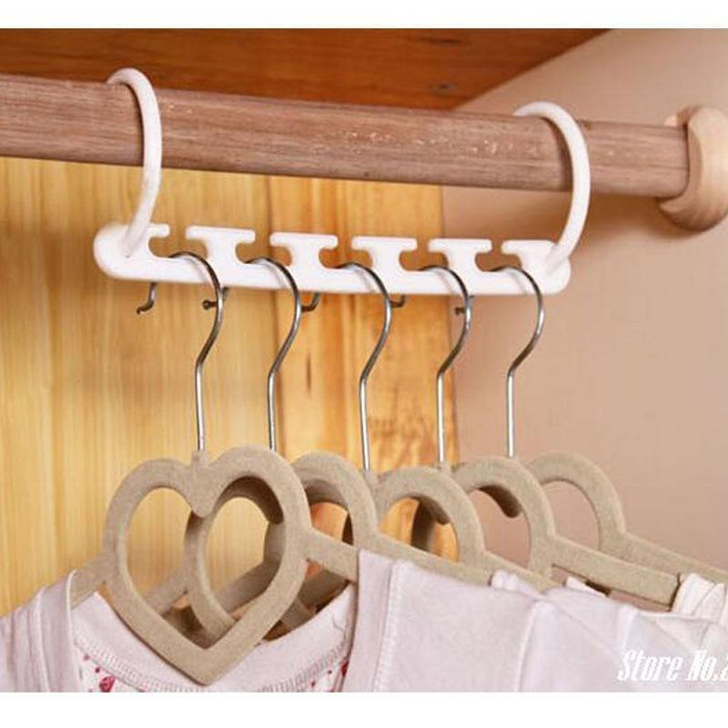 Five-hole rotable folding plastic Magic hanger - Aiko 360