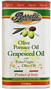 Olive Pomace Oil & Grapeseed Oil with Extra Virgin Olive Oil, 3L