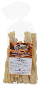Italian Bread Sticks (Treccine) - Onions & Olives, 300g