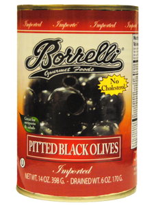 Pitted Black Olives (Medium), 14oz (398g)