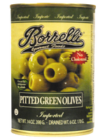 Load image into Gallery viewer, Pitted Green Olives (Medium), 14oz (398g)